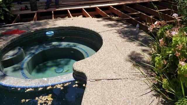 Uneven Pool Deck Fixed with PolyLevel in Folsom, CA