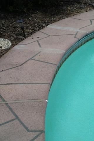 Cracked Pool Deck in Fair Oaks, CA