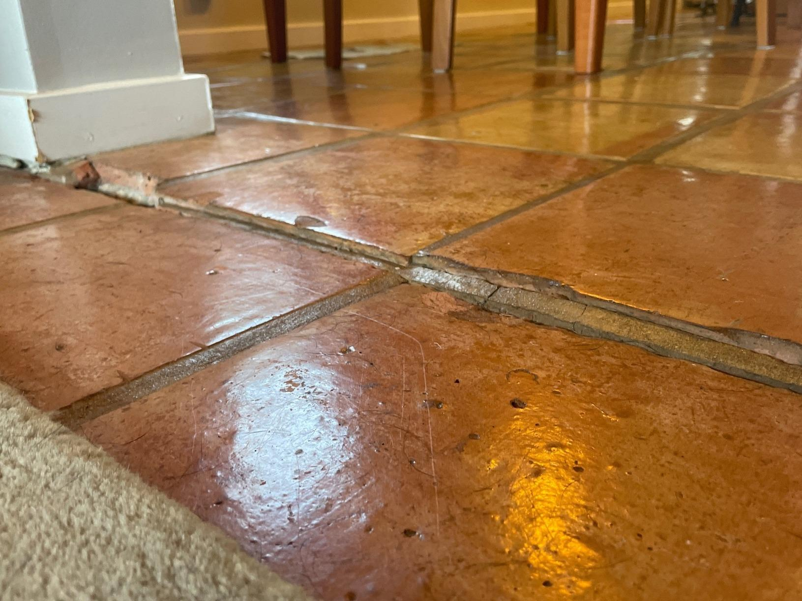 Cracking Tiles in Haiku, HI - Before Photo