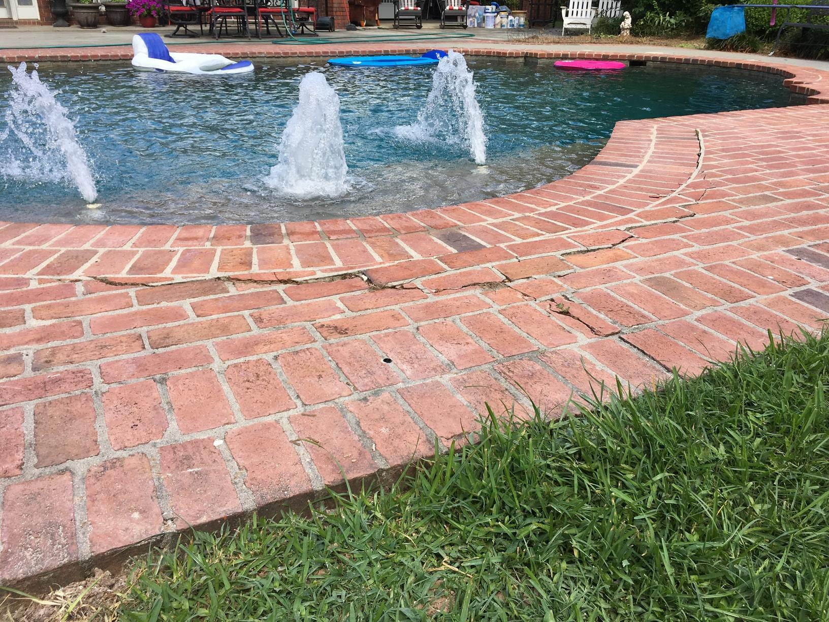Cracked Brick Pool Deck in Monroe, LA - After Photo