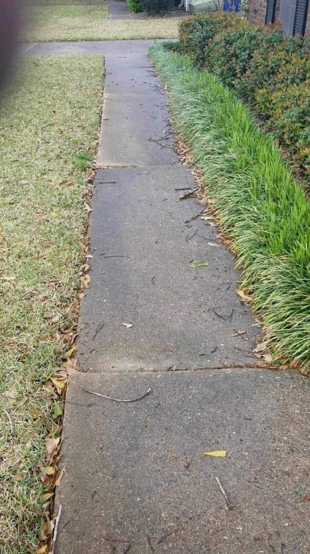 Uneven Sidewalk Repaired in Shreveport, LA - Before Photo