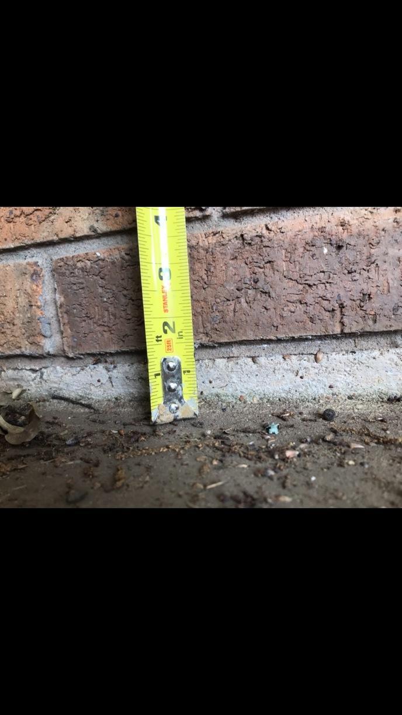 Concrete leveling in Shreveport, LA - Before Photo