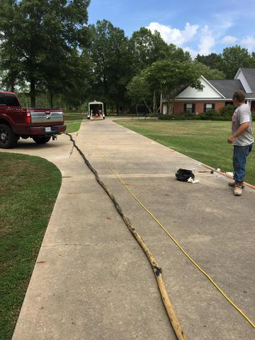 Uneven Driveway in Swartz, LA - Before Photo