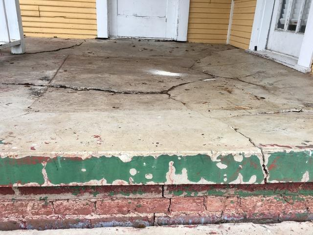 Severely Cracked Front Porch in Monroe, LA