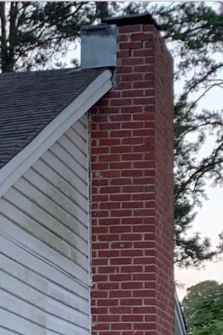 Cracked Brick Chimney Fixed in Ruston, LA