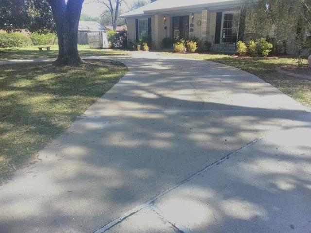 Uneven Driveway Restored in Monroe, LA - After Photo