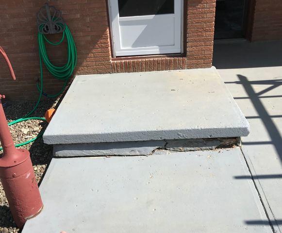 Concrete Repair - Before Photo
