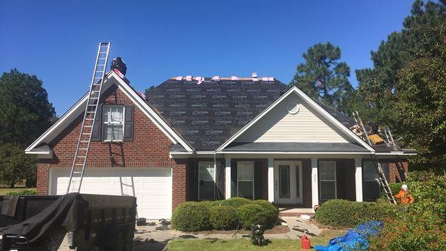 Hail damaged Roof Repair in Lexington