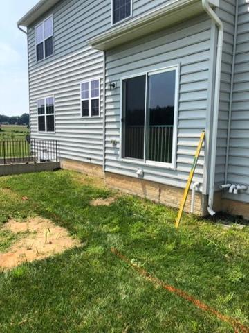 Backyard Patio & Steps - Before Photo