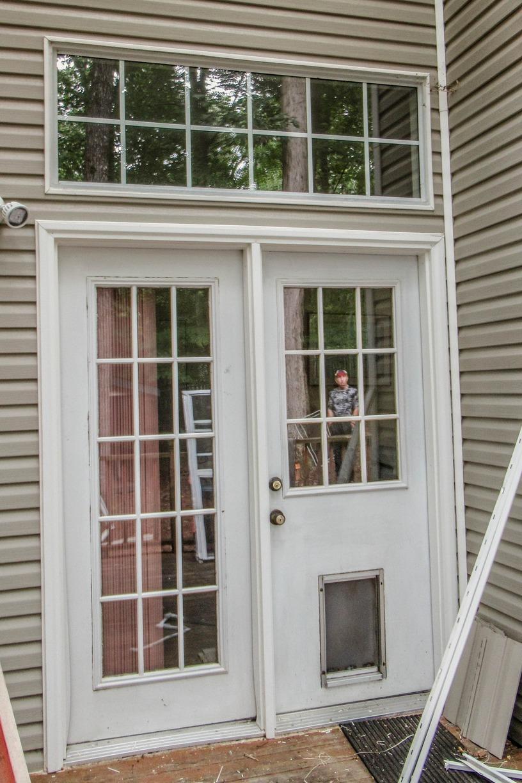 Swing Door to Sliding Patio Door Replacement in Williamsburg VA - Before Photo