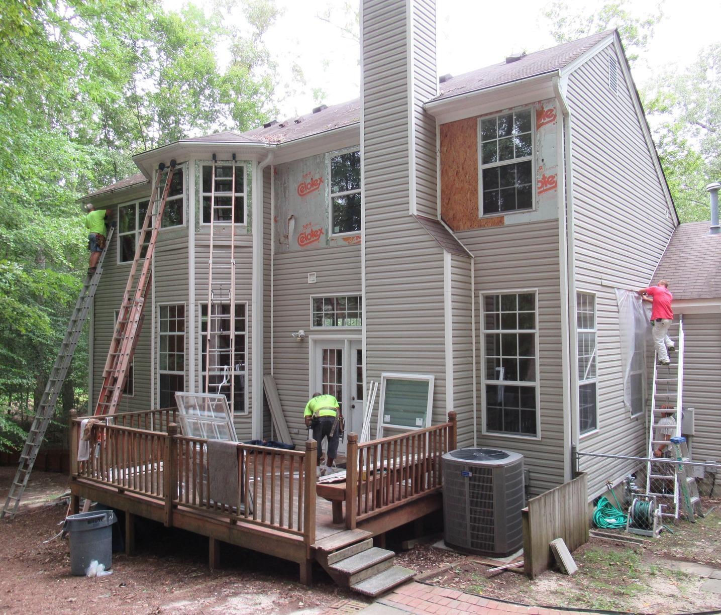 New Construction Window Replacement in Williamsburg VA - Before Photo