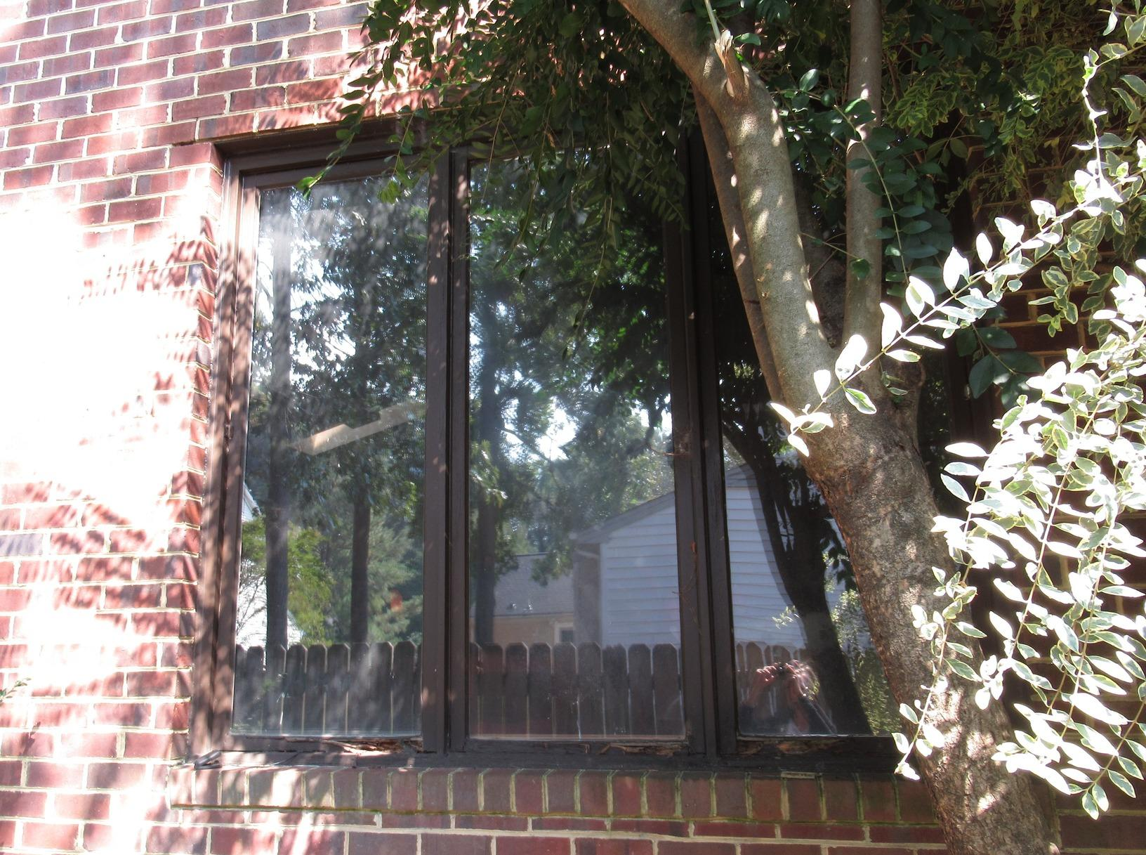 Triple Vinyl Window Replacement in Coventry, York County VA - Before Photo