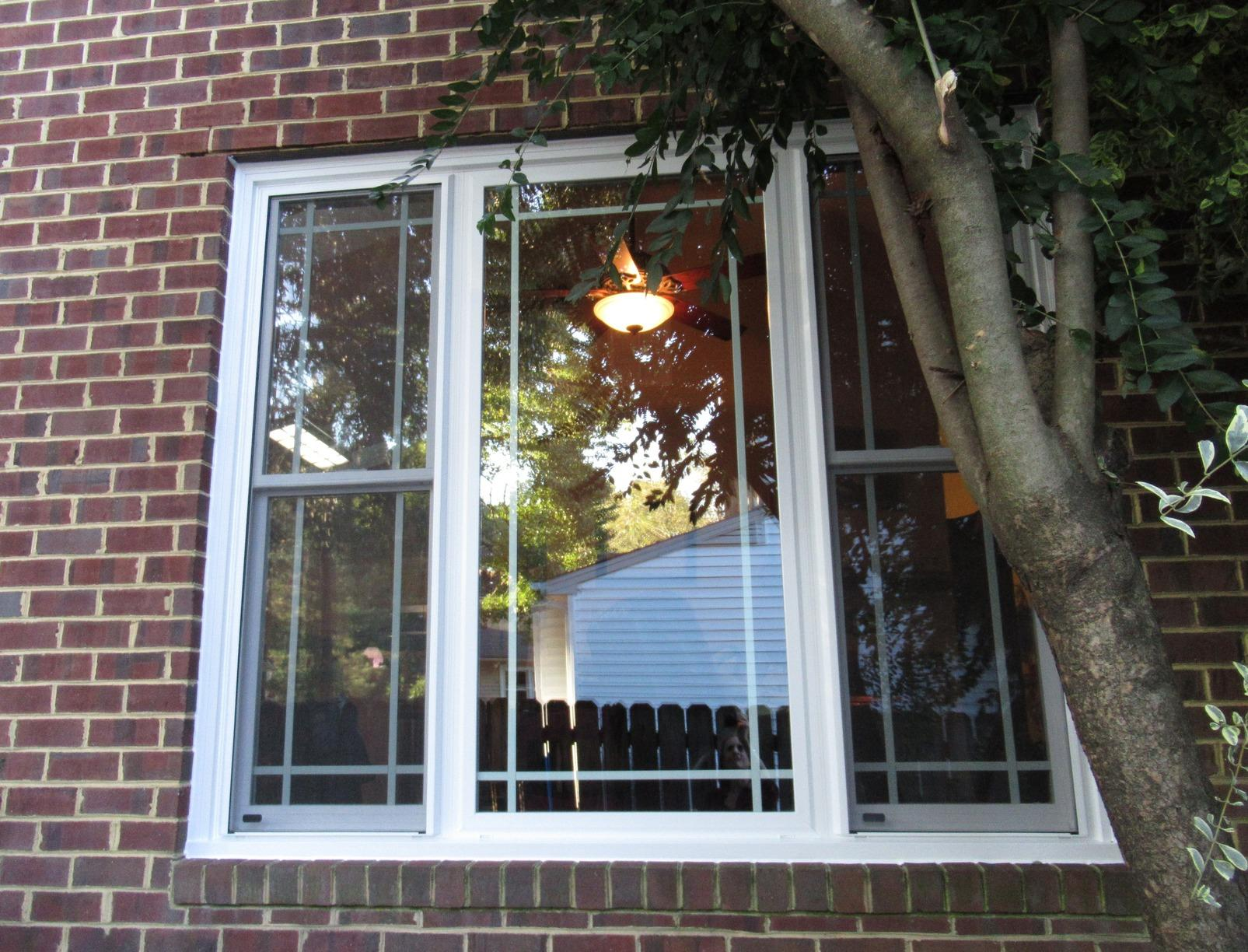 Triple Vinyl Window Replacement in Coventry, York County VA - After Photo