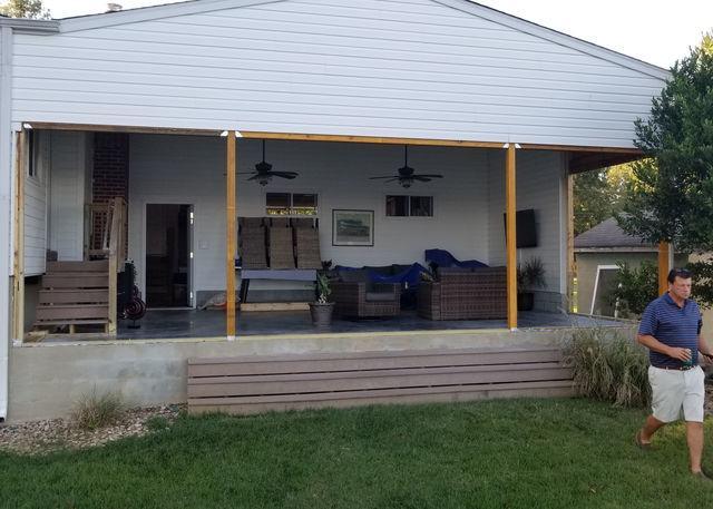 Waterfront Sunroom Conversion in Chickahominy Haven (Lanexa, VA) - Before Photo