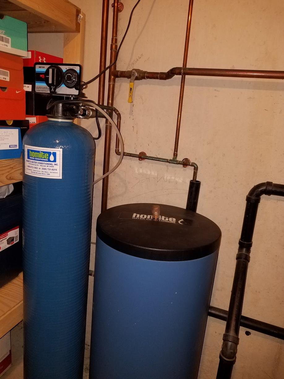 Water Softener Replacement - Howard, WI - Before Photo