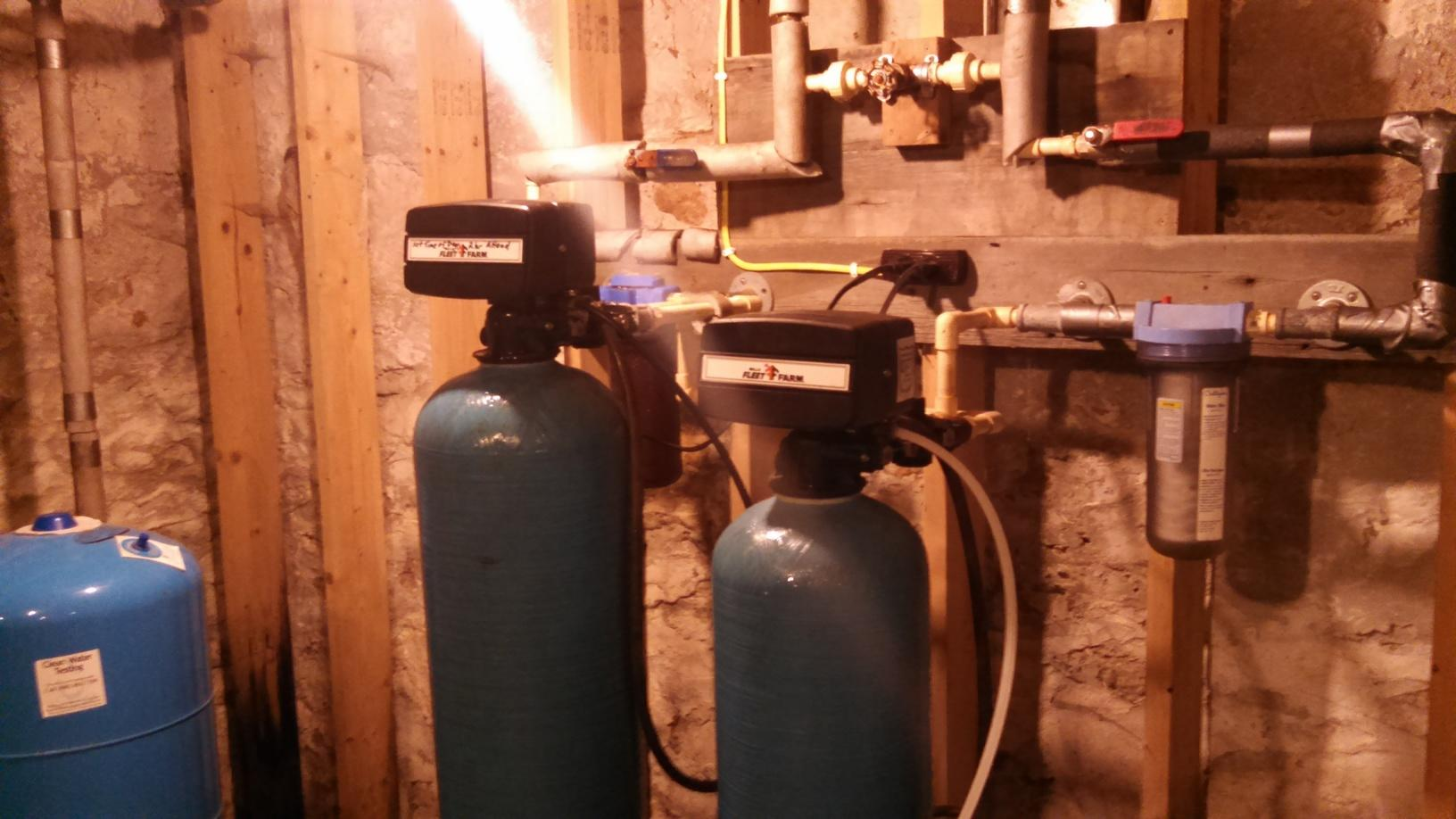 New Softener and Iron Filter - Pickett, WI - Before Photo