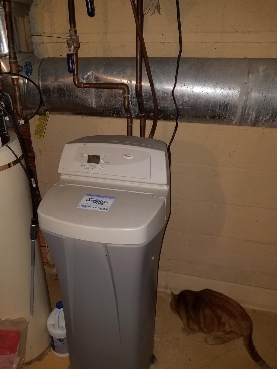 NEW WATER CONDITIONER AND REVERSE OSMOSIS - Before Photo