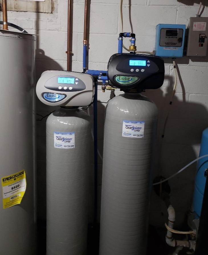 NEW WATER SOFTENER AND IRON FILTER IN RIPON, WI - After Photo