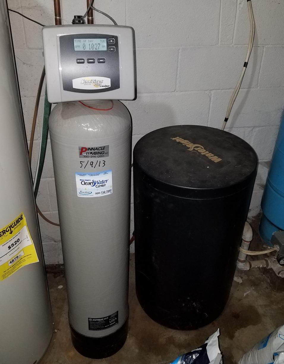 NEW WATER SOFTENER AND IRON FILTER IN RIPON, WI - Before Photo