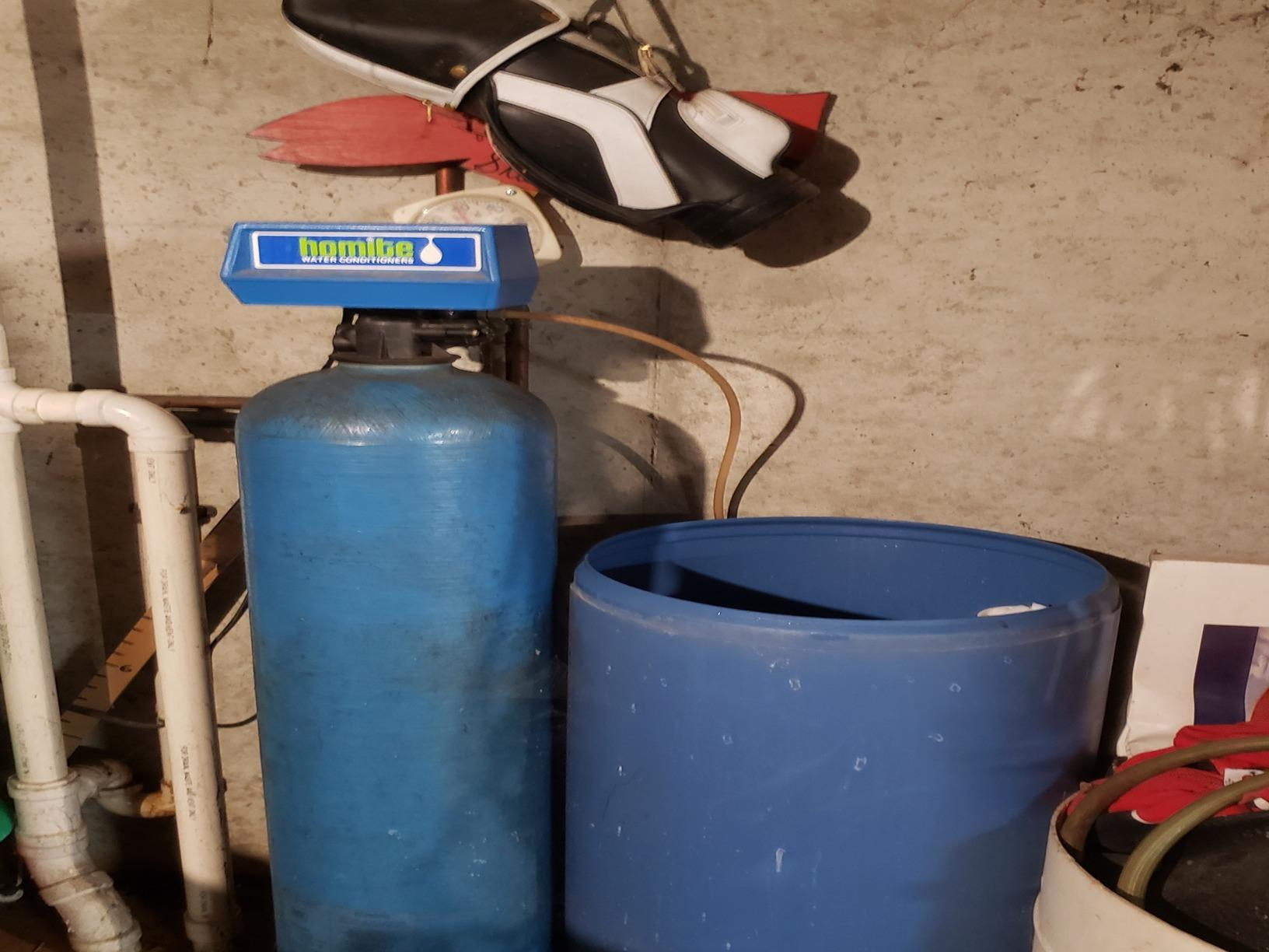 Old Water Softener Not Working Anymore- New Franken,WI - Before Photo