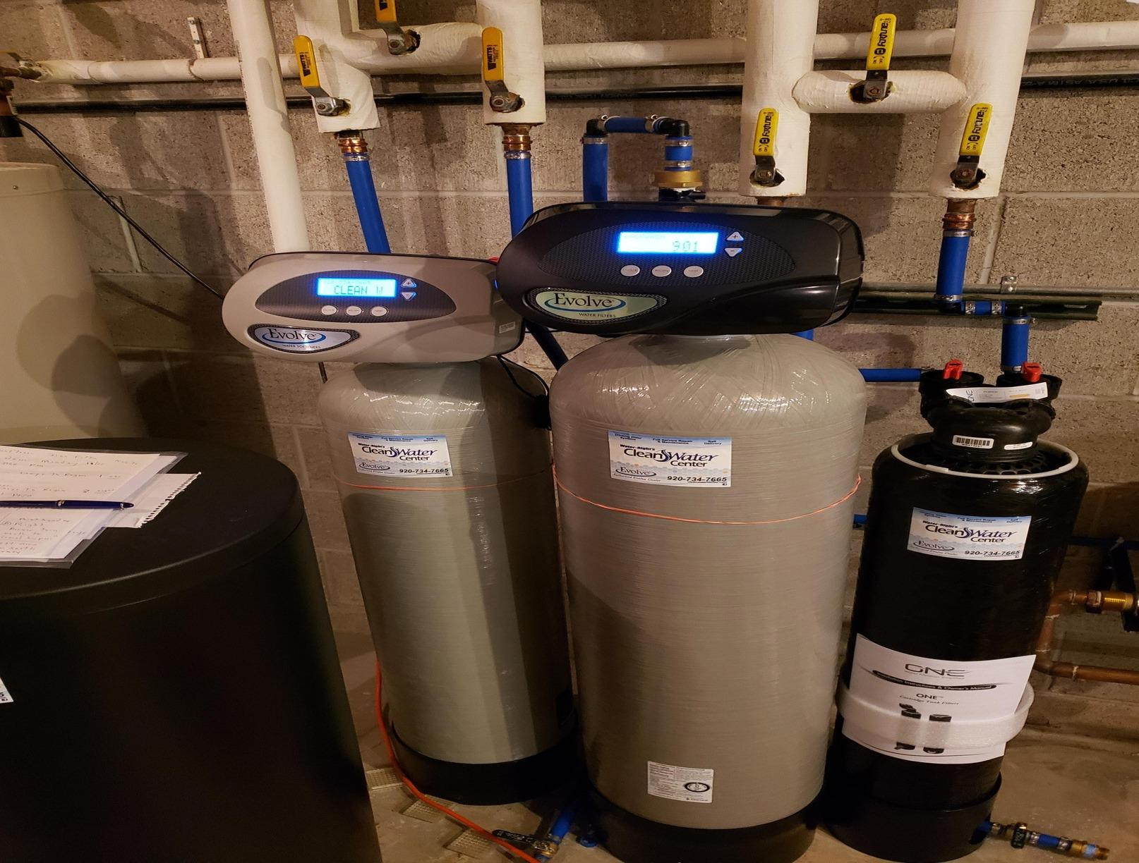 New Water Softener, Iron Filter, and Sediment Filter Installed in Mequon, WI - After Photo