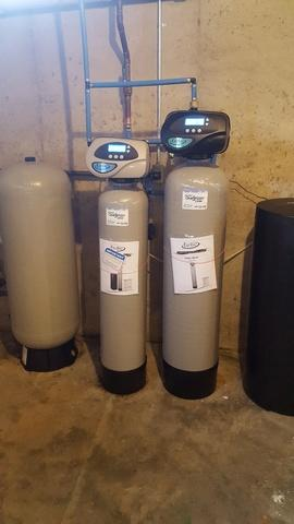 NEW IRON FILTER AND WATER SOFTENER
