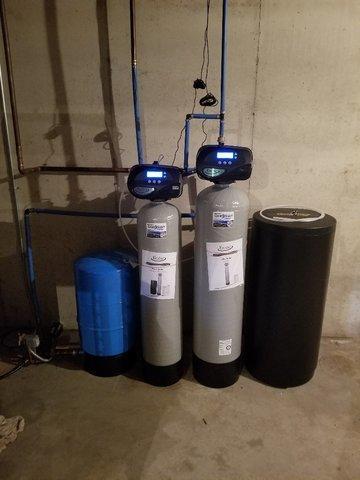Iron Filter & Water Softener, Black Wolf