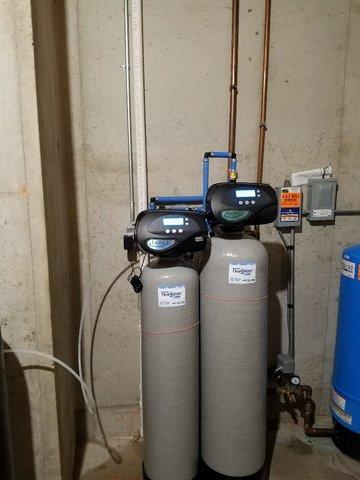 NEW WATER SOFTENER AND IRON FILTER