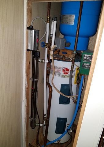 New Water Softener to Fix Hard Water in Neshkoro, WI - Before Photo