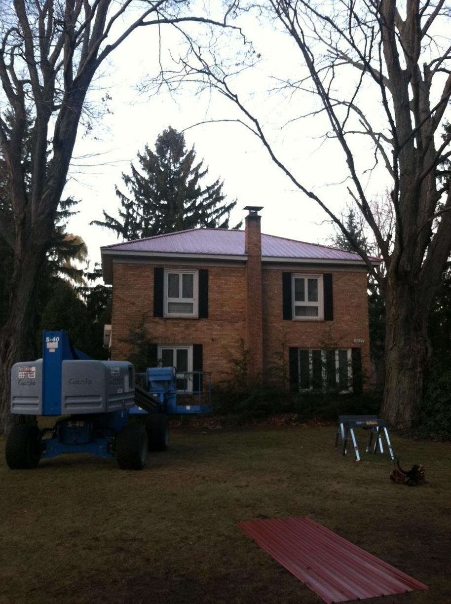 Fennville Red Metal Roof - After Photo
