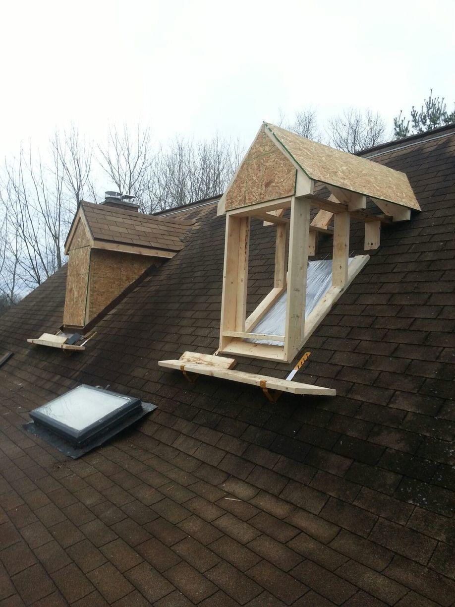 Removing Skylights and adding Windowed Dormers In Sparta, MI - Before Photo
