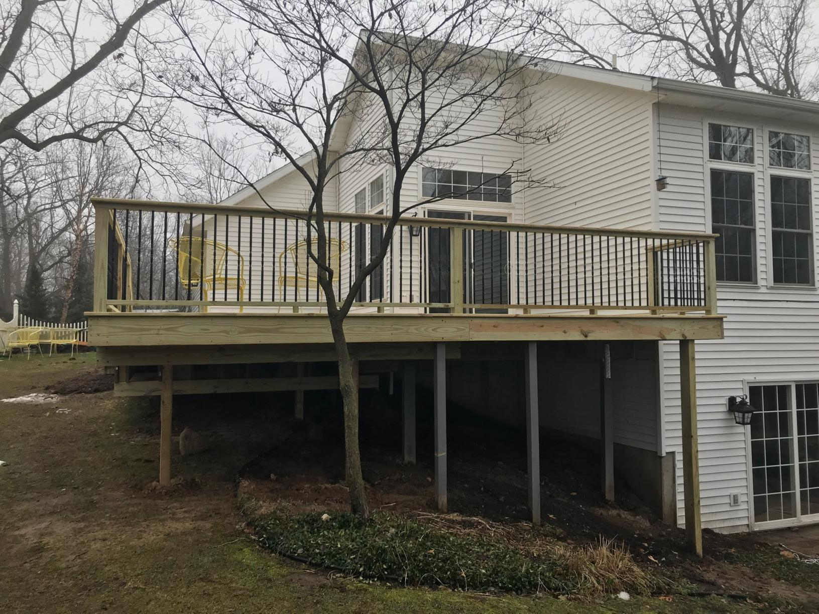 Deck Building in Plainwell, MI - After Photo