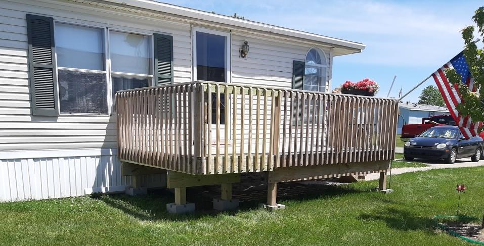Deck Extension Built in Wayland, MI - After Photo