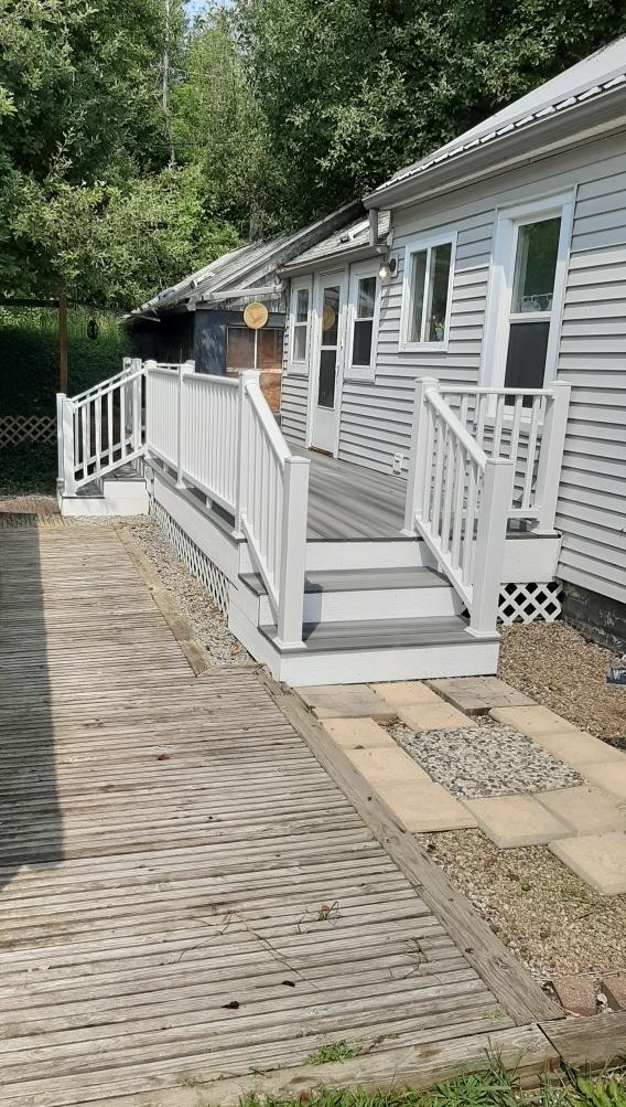 Composite Decking Construction in Attica, MI - After Photo