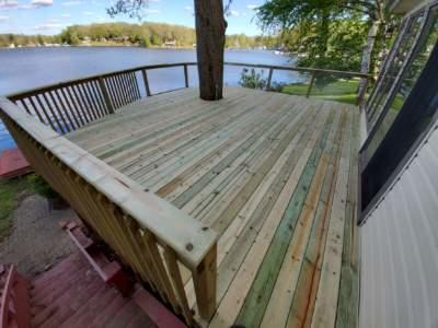 Turing a nonconforming deck into lovely lakeside retreat in Columbiaville, MI - After Photo