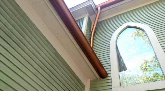 Copper gutter system
