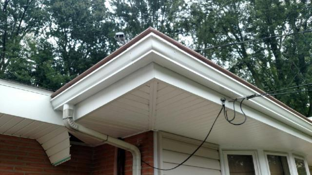 Snaplock gutter system - After Photo