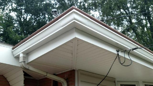 Snaplock gutter system - Before Photo
