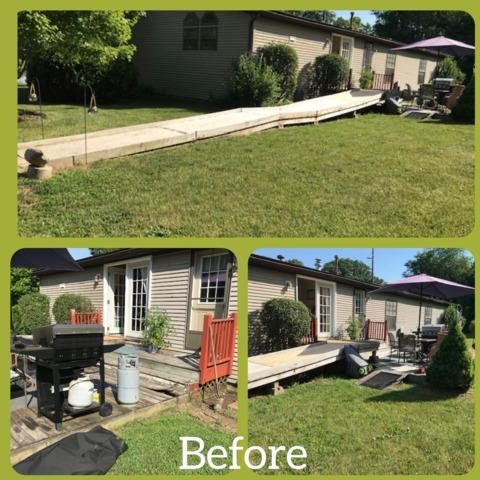 Deck Handicap Ramp Built in Alto, MI