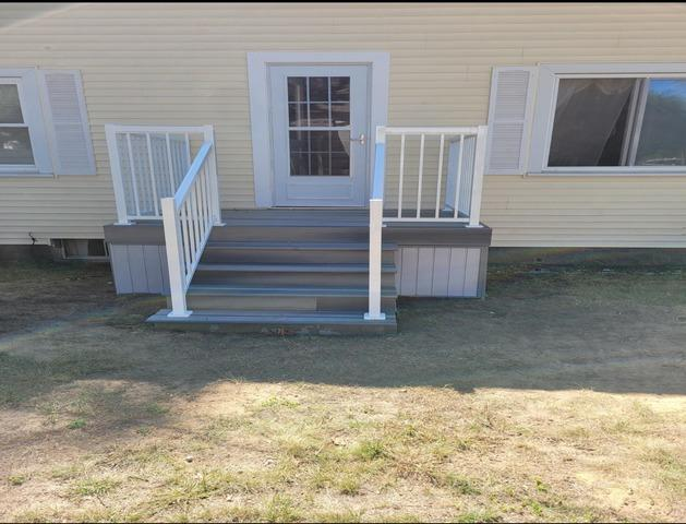 New deck for the back  of the home