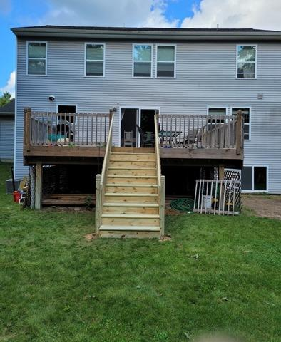 Added treated stairs to elevated deck