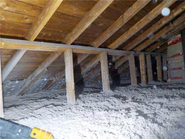 Attic insulation in Rosemont Petite-Patrie, Montréal - After Photo