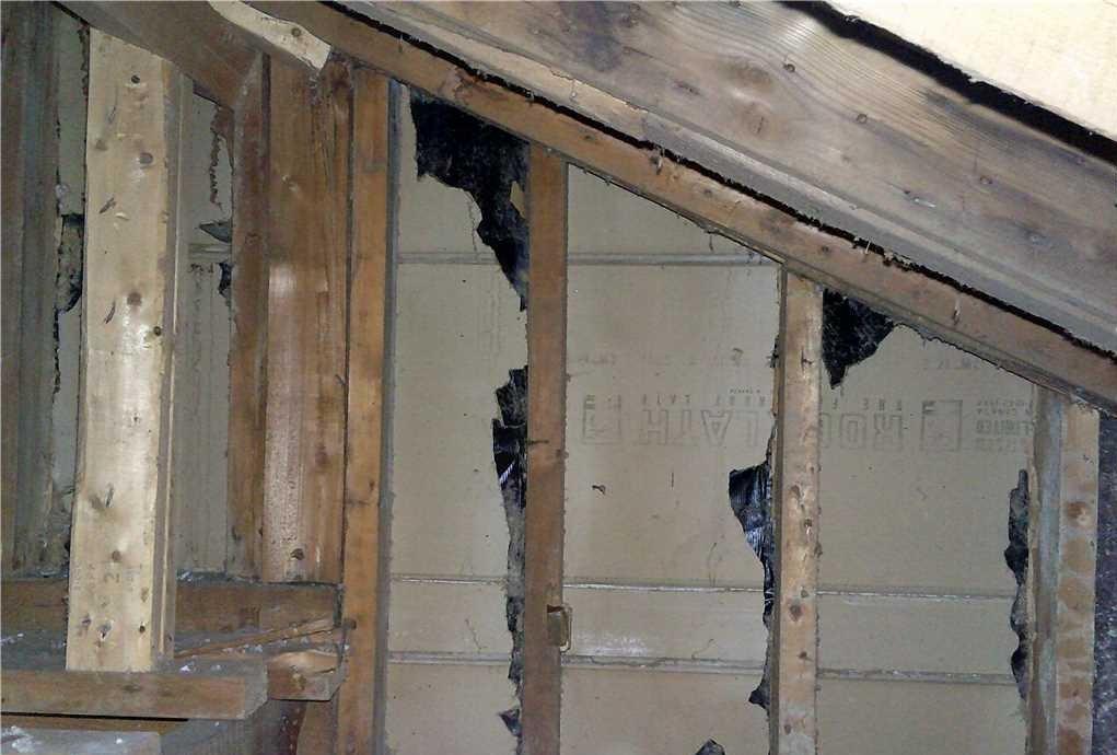 Pièce adjacente au grenier à Mont-Royal, Qc - Before Photo