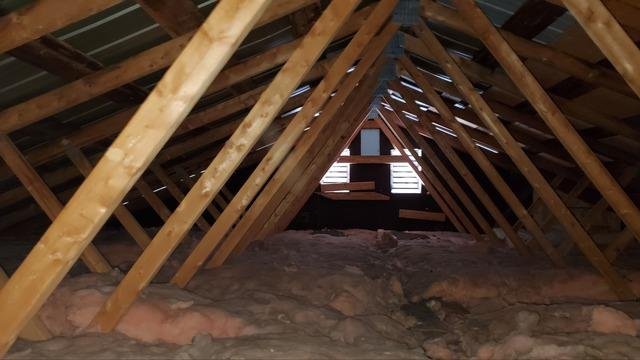 Attic insulation with cellulose Saint-Sauveur, Qc - Before Photo