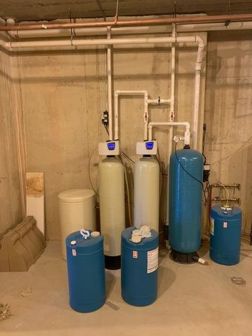 New Water Conditioning System for Problem Well Water in St. Charles, IL - Before Photo