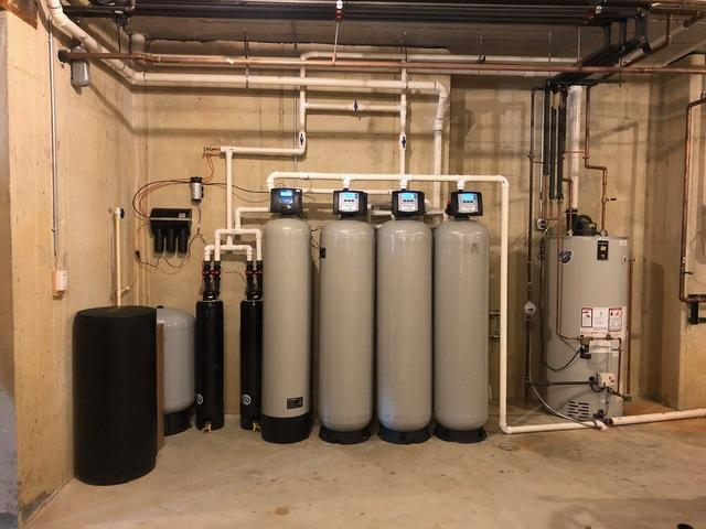 New Water Conditioning System for Problem Well Water in St. Charles, IL - After Photo