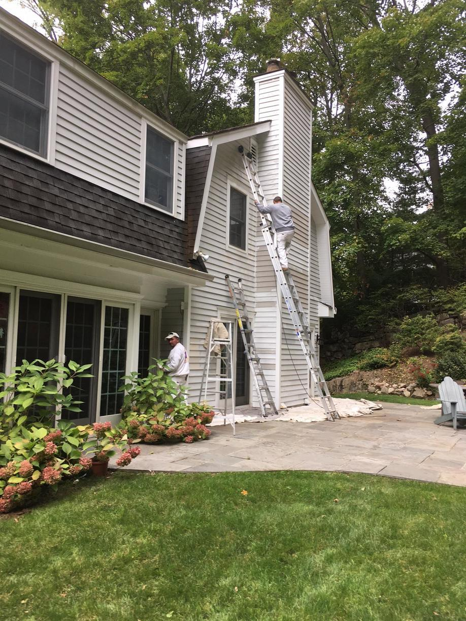 Exterior Painting in Greenwich, Connecticut - Before Photo