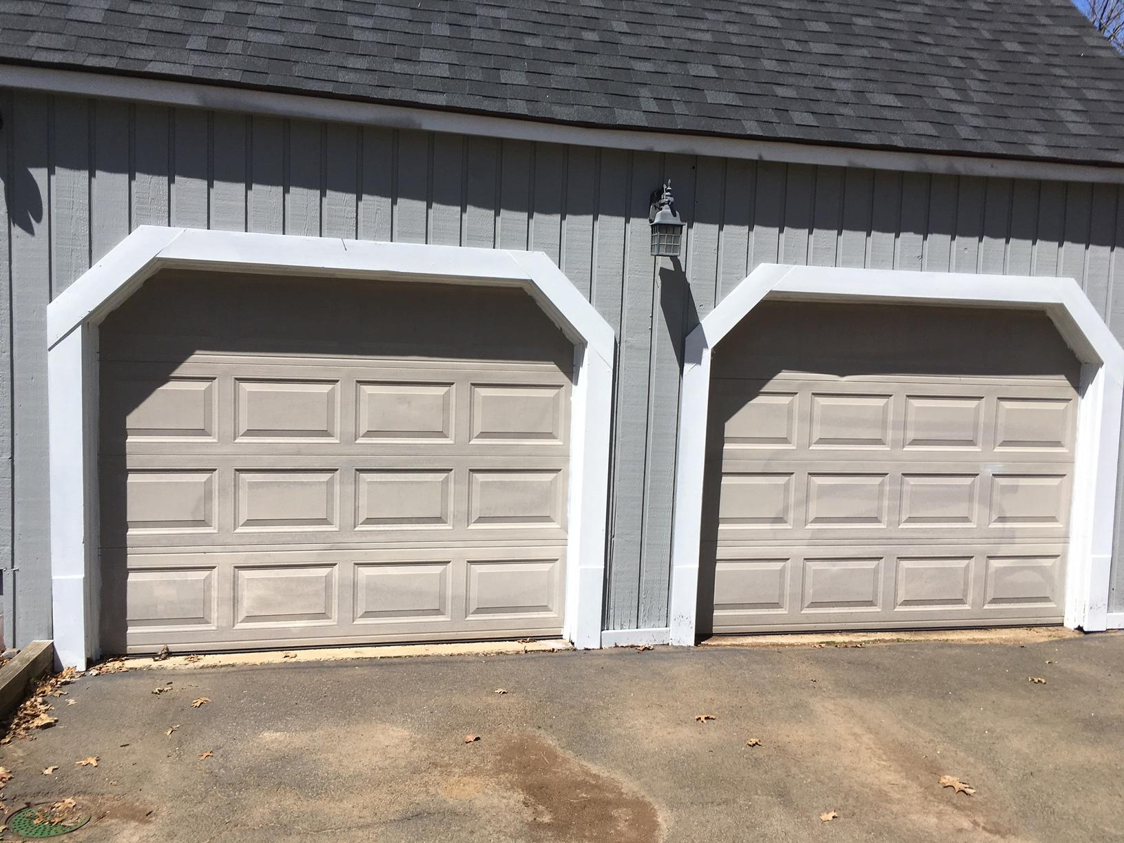Exterior Garage Painting in Stamford, CT - Before Photo
