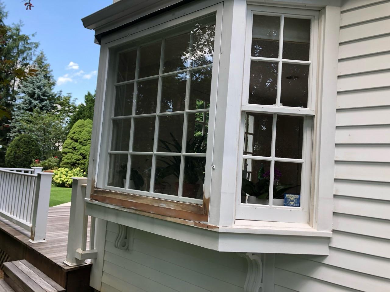 Exterior Painting in Greenwich, CT - Before Photo