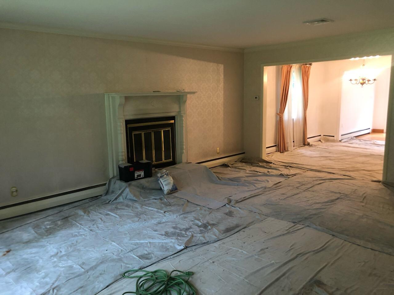New Canaan Wallpaper Removal - Before Photo